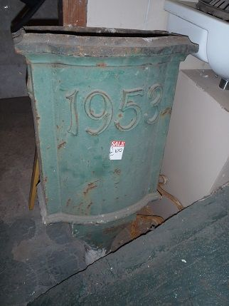 Cast Iron hopper dated 1953