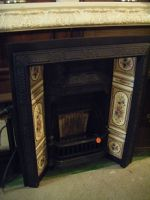 Cast Iron Fire Insert c/w Tiles