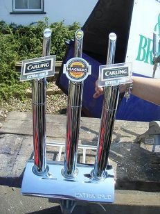 Chrome  3 x beer pump