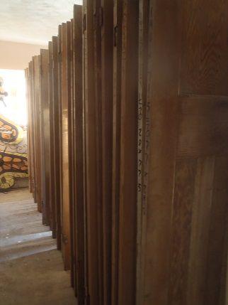 Hundreds of original stripped pine doors