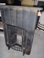 a traditional cast fire place